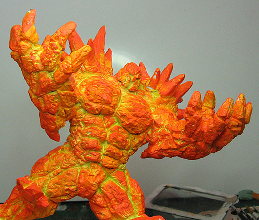 How to Paint Lava Skin