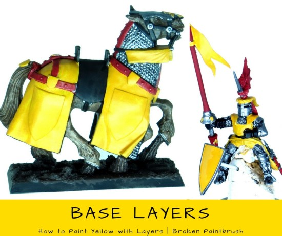 How to Paint Yellow with Layers - Base Coat