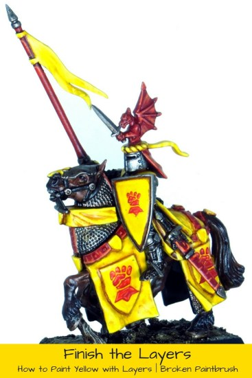 Finishing the Rest of the Bretonian Knight with Yellow and Red
