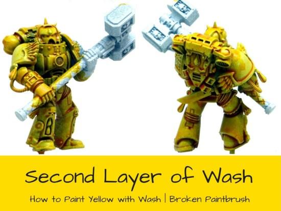 Adding a second wash of Casandora Yellow