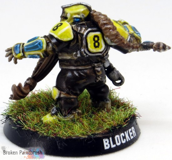 Dwarf Blood Bowl Blocker Back