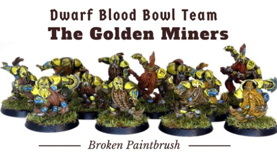 Dwarf Blood Bowl Team the Golden Miners