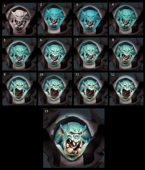 Painting an Orruk face