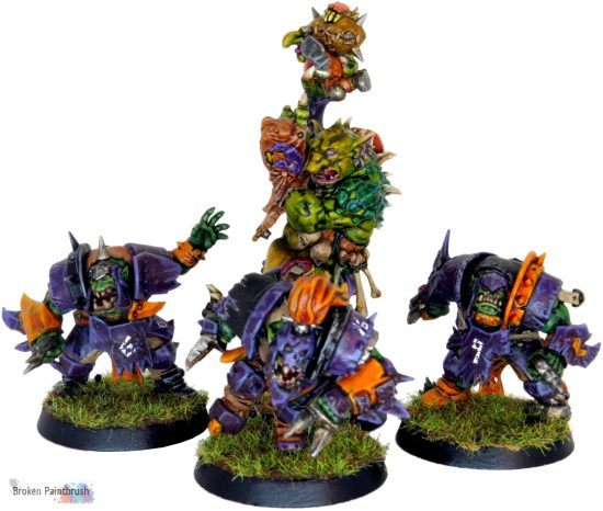 Orc Blood Bowl Team with Troll