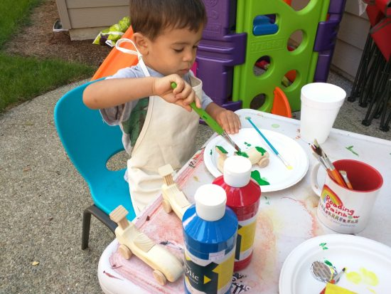 Painting with my son