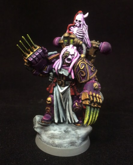 Converted Slaanesh Chaos Space Marine Lord with Lightning Claws