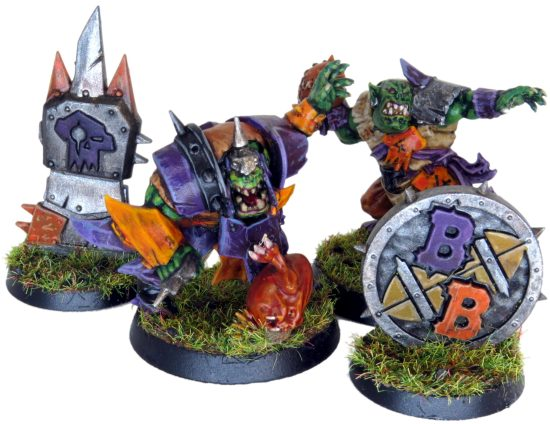 Orc Blood Bowl Team with Tokens