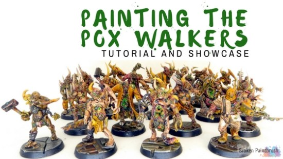 Painting Pox Walkers with Washes