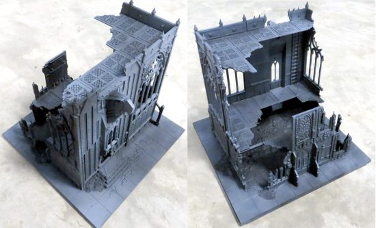 Games Workshop Shrine of Aquila Building 1 WIP