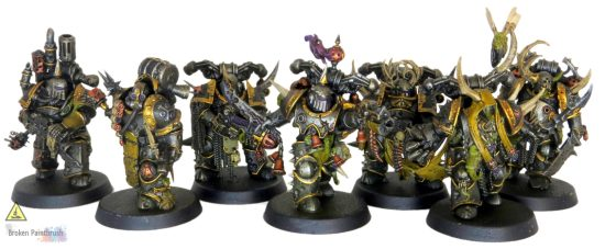 Work in progress on Nurgle Iron Warriors