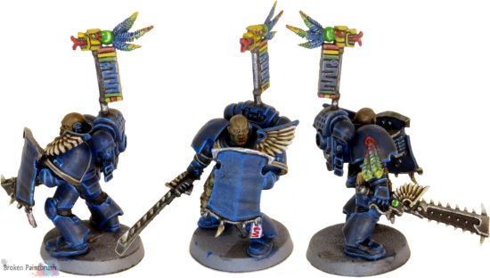 Rainbow Warriors Sergeant with Power Weapon and Storm Shield