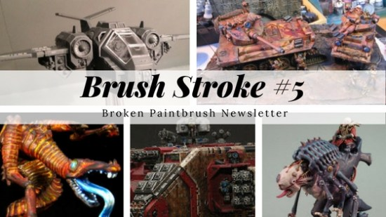 Brush Stroke #5 Broken Paintbrush Newsletter