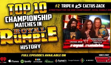Top 10 Royal Rumble Title Matches (#2 Triple H vs. Cactus Jack)