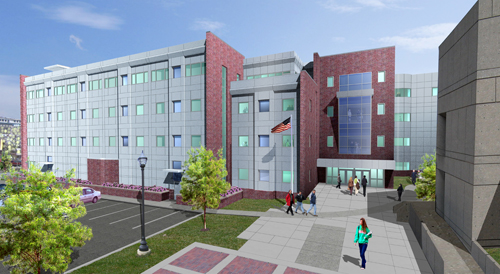 Rendering of the planned $25.6 Million Nursing & Allied Health Building. (Courtesy AJRC)