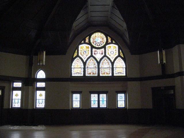 Inside the main sanctuary