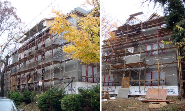 Scaffolding on the Marseilles of Cherokee Road