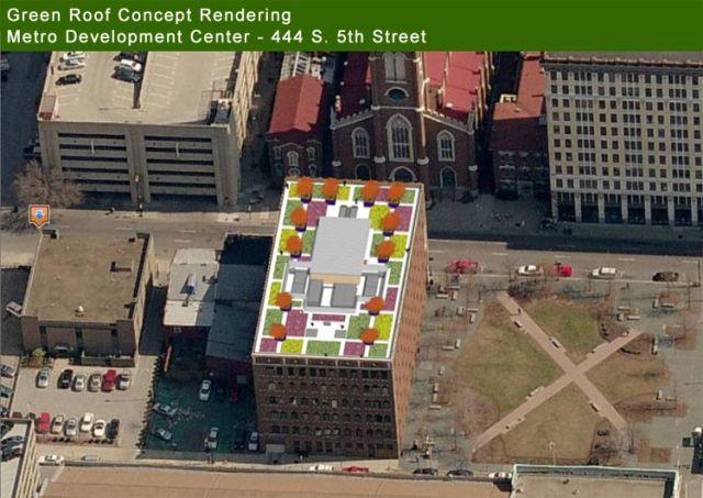 Metro Development Center Green Roof Plan