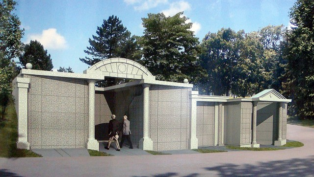 Rendering of Lakeview Mausoleum (courtesy Cave Hill Cemetery)