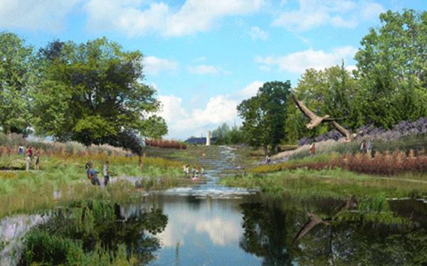 Floyds Fork Greenway Rendering (via ASLA Awards 2009)