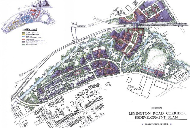Redevelopment scheme from the Irish Hill neighborhood plan