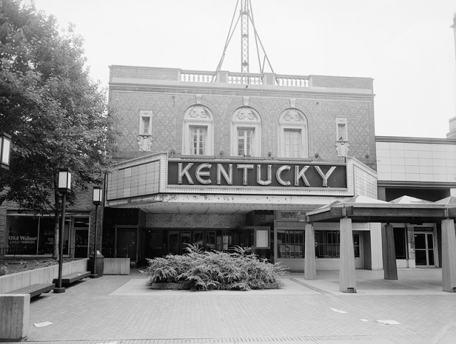 The Kentucky Theater decades ago (photo via Library of Congress)