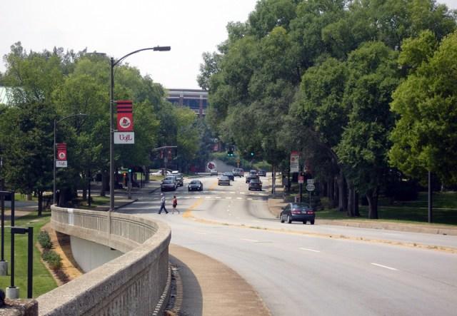 Eastern Parkway Bridge toward University of Louisville