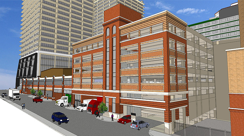 Rendering Of Planned Parking Garage (by Arrasmith, Judd, Rapp, Chovan, Inc.)
