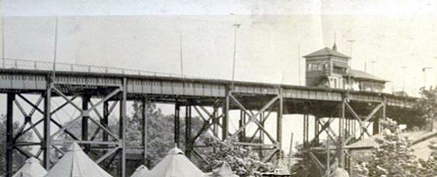 Elevated tracks of Big Four Bridge in Jeffersonville (courtest R.D. Schooling)