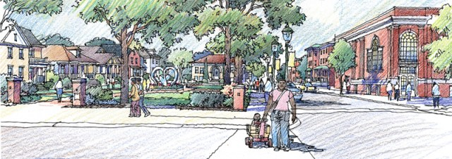 Conceptual rendering of Hope VI development (courtesy Metro Housing Authority)