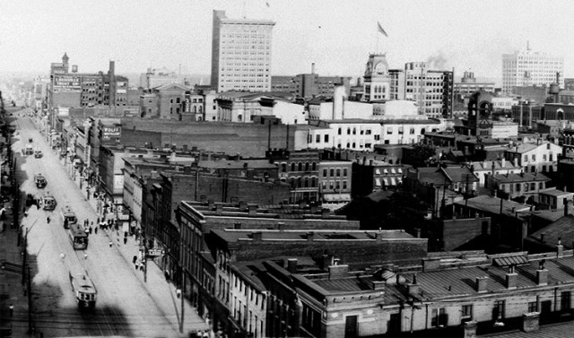 Historic view east from atop the Glassworks (via HABS / LOC)