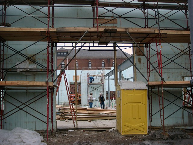 Construction at the Liberty Green Community Center