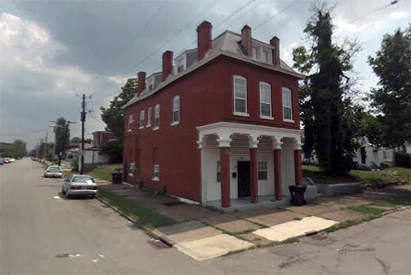 Corner commercial building in Russell (via Google Maps)