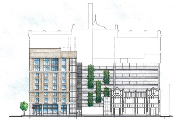 West (Fourth Street) Elevation (courtesy City Properties Grouo)