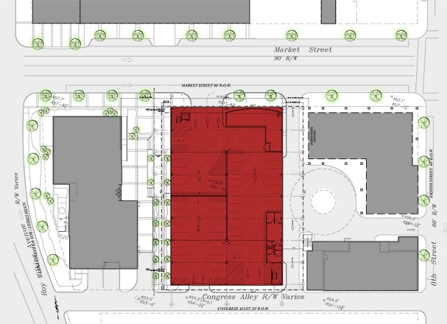 Site plan for Glassworks District (Courtesy City Properties Group)