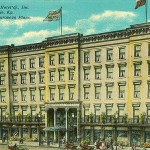 Louisville Hotel on West Main Street (BS File Postcard)