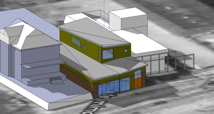 Proposed renovation of former Cafe Mimosa site (Courtesy Architectural Artisans)