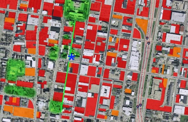 SoBro neighborhood surround the Spalding Gym