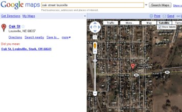 Screen capture from Google Maps