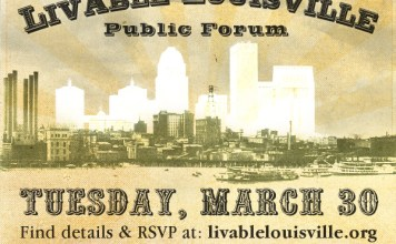 Livable Louisville Forum on March 30 at the Clifton Center