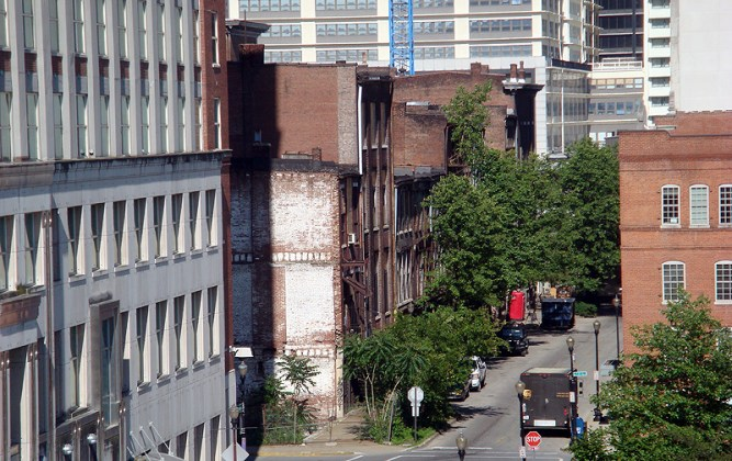 Washington Street side of the Iron Quarter (BS File Photo)