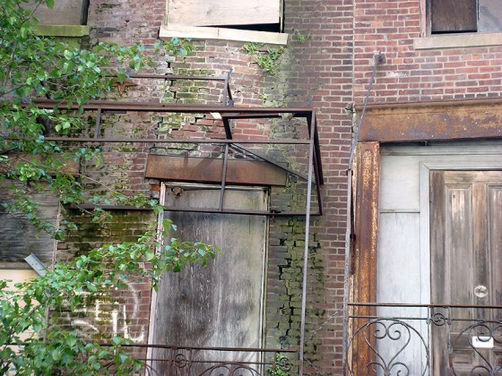 Deterioration on Washington Street facades (BS File Photo)