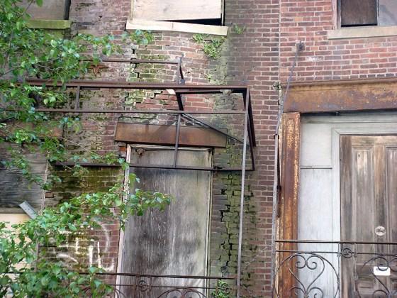 Deterioration on Washington Street facades (BS File Photo)