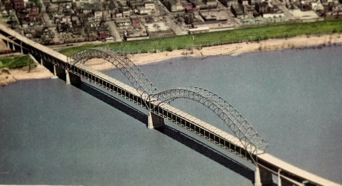 Sherman-Minton Bridge (BS File Postcard)