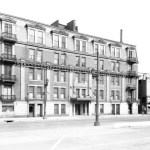 Building once on the corner of Second and Gray Streets (U of L Photographic Archives)