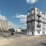 Demolished building in its modern setting (U of L & Google)