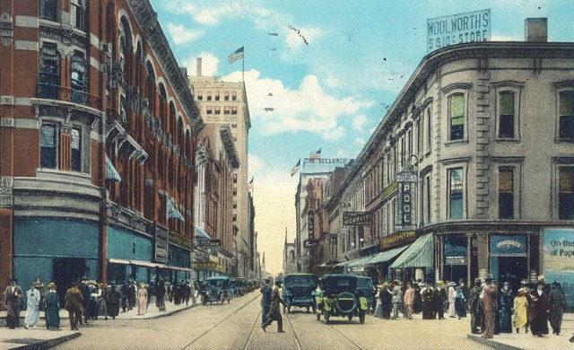 Fourth Street from Liberty Street (BS File Postcard)