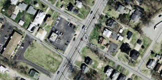 Collision site on Dixie Highway (via Lojic)