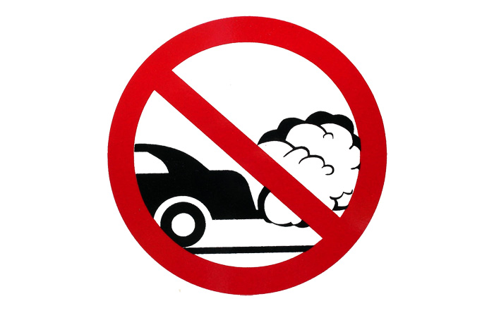 Shutting Off Your Car Engine Saves Money Cleans Air Broken Sidewalk