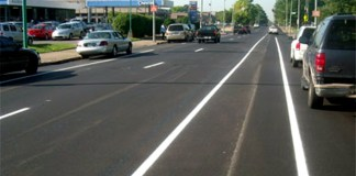 New bike lane on 8th Street (Courtesy Bike Louisville)