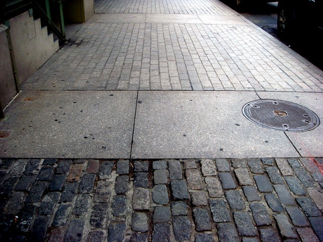 Cobblestone streets of New York City (Branden Klayko / Broken Sidewalk)